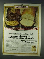 1978 Pepperidge Farm Date-Nut Cake and Yogurt Cake Ad