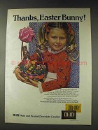 1978 M&M's Candy Ad - Thanks, Easter Bunny!