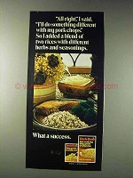 1978 Uncle Ben's Long Grain & Wild Rice Ad - All Right