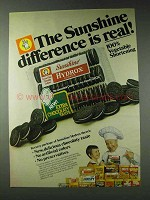 1978 Sunshine Hydrox Cookies Ad - Difference is Real