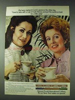1978 General Foods International Coffees Ad - Carol Lawrence
