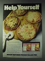1978 Weight Watchers Frozen Italian Pies Ad - Help