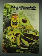 1978 Betty Crocker Bac-Os Ad - Better Salad Avocado
