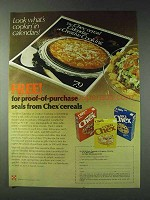 1978 Ralston Chex Cereal Ad - Proof-of-Purchase Seals