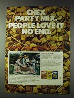 1978 Ralston Chex Cereal Ad - Party Mix People Love