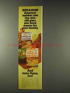 1978 Rice-a-Roni Chicken and Beef Ad - More Ounces