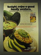 1978 Rice-a-Roni with Chicken Ad - Avocado Shell Recipe