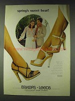 1978 Bakers Leeds Glazed Cork Shoes Ad - Sweet Beat