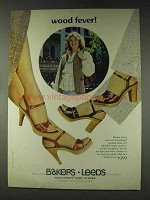 1978 Bakers Leeds Wood Collection Shoes Ad - Wood Fever
