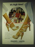 1978 Bakers Leeds Highs in Heels shoes Ad - High Time
