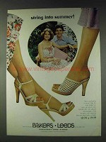 1978 Bakers Leeds Highs in Heels shoes Ad - String Into