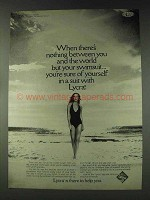 1978 Du Pont Lycra Swimsuit Ad - Nothing Between You