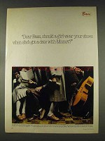1978 Bass 100's Shoes Ad - Date With Mozart