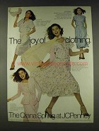 1978 JCPenney Qiana Spring Clothing Ad - The Joy Of
