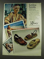 1978 Kinney Sandals Ad - Sunshine Sandals