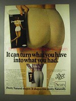 1978 Sears Pretty Natural Shaper Ad - What You Had