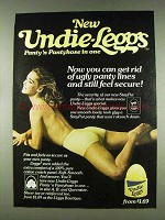 1978 Undie-L'eggs Pantyhose Ad - Get Rid of Ugly Lines