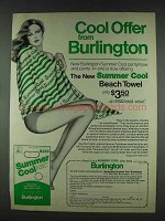 1978 Burlington Summer Cool Pantyhose Ad - Cool Offer
