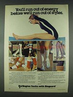 1978 Burlington Socks with Bioguard Ad - Out of Energy
