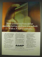 1978 AMP ACTION PIN Contact Ad - Problem Solved