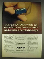 1978 AMP DIP Switch Ad - Cut Time and Costs