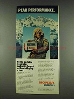 1978 Honda EM-400 Portable Generator Ad - Performance