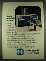 1978 Harris 1600 Remote Communications Processor Ad