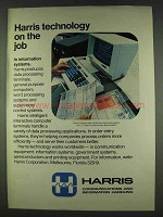 1978 Harris Interactive Computer Terminal System Ad