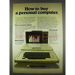 1978 Apple II Computer Ad, How to Buy Personal Computer