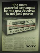 1978 Sony STR-V7 Receiver Ad - Not Just Power