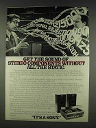 1978 Sony HMK-419 Stereo Ad - Without The Static