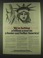 1978 American Electric Power Ad - Charles Santore
