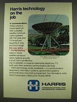 1978 Harris Satellite Communication System Terminal Ad