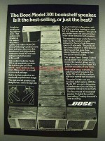 1978 Bose Model 301 Bookshelf Speaker Ad - Best