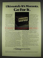 1978 Marantz 170DC Stereo Power Amplifier Ad
