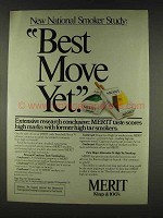 1978 Merit Cigarettes Ad - Best Move Yet