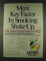 1978 Merit Cigarettes Ad - Key Factor in Shake-up