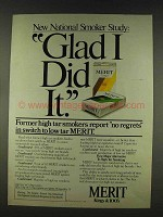 1978 Merit Cigarettes Ad - Glad I Did It