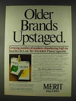 1978 Merit Cigarettes Ad - Older Brands Upstaged