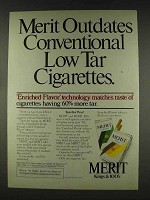 1978 Merit Cigarettes Ad - Outdates Low Tar Cigarettes