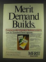 1978 Merit Cigarettes Ad - Demand Builds