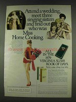 1978 Virginia Slims Cigarettes Ad - Attend a Wedding