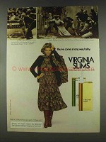 1978 Virginia Slims Cigarettes Ad - Throwing Out Woman