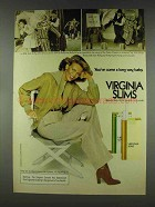 1978 Virginia Slims Cigarettes Ad - Kelly & Kelly Dance