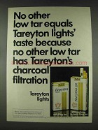 1978 Tareyton Lights Cigarettes Ad - No Other Equals