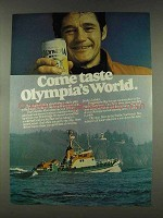 1978 Olympia Beer Ad - Come Taste Olympia's World