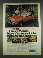 1979 Chevy Monza 2+2 Hatchback Ad - More Kicks
