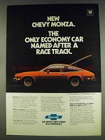 1978 Chevy Monza 2+2 Hatchback Coupe Ad - Race Track