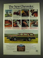 1978 Chevy Caprice Classic Wagon Ad - Things You Want