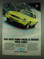 1978 Chevy Camaro Ad - Go Out and Hug a Road